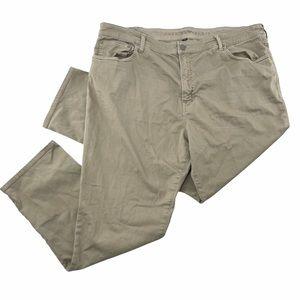 American Eagle Men's Tan Slim Straight Chino Pants